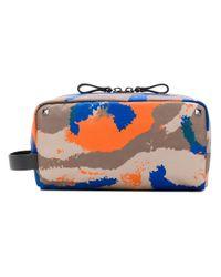 Valentino Gray Valentino Garavani Camouflage Wash Bag for men