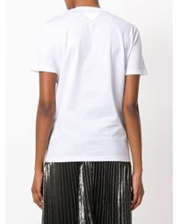 Prada White Embellished Bib T-shirt