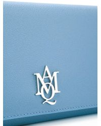 Alexander McQueen - Blue Amq Pouch With Strap - Lyst