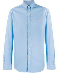 メンズ Polo Ralph Lauren ロゴ シャツ Blue