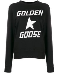 Sweat à logo imprimé Golden Goose Deluxe Brand en coloris Black