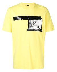 メンズ DIESEL A3sth3thic Tシャツ Yellow