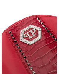 Philipp Plein ヘキサゴンロゴ バックパック Red