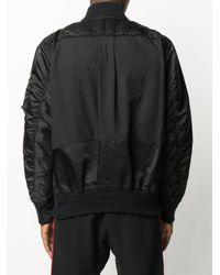 メンズ Sacai コントラストパネル ボンバージャケット Black