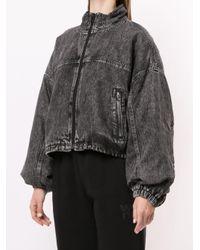 Джинсовая Куртка-бомбер Alexander Wang, цвет: Black