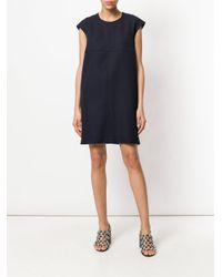 Courreges Blue Plain Dress