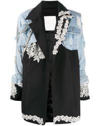Loulou レイヤード ジャケット Blue