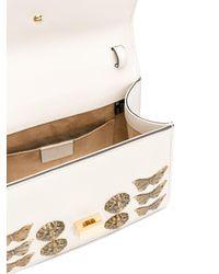Gucci - White Sylvie Gold Bug Bag - Lyst