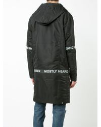 Parka con cappuccio di Mostly Heard Rarely Seen in Black da Uomo