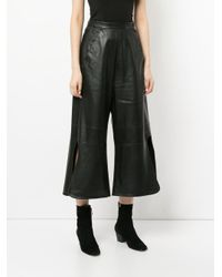 Ellery Black Convex wide leg trousers