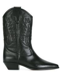 Étoile Isabel Marant Black Étoile Dallin Boots