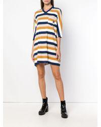 Sonia Rykiel Blue Flared V-neck Dress