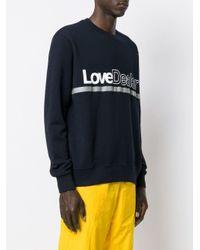 メンズ Golden Goose Deluxe Brand Love Dealer スウェットシャツ Blue