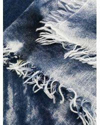 Faliero Sarti Clear パターン スカーフ Blue