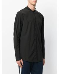 Transit - Black Collarless Shirt for Men - Lyst