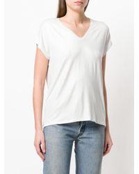Majestic Filatures White Knit V-neck T-shirt
