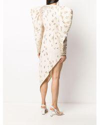 Loulou ビジュートリム ドレス Natural