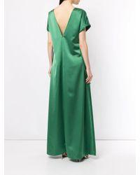 Атласное Вечернее Платье Cedric Charlier, цвет: Green
