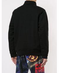 Felpa con mezza zip di Supreme in Black da Uomo