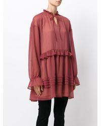 Perseverance London Red Drop Waist Mini Dress