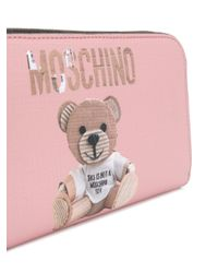 Moschino Pink Teddy Bear Wallet
