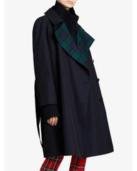 Burberry - Blue Tropical Gabardine Asymmetric Trench Coat - Lyst
