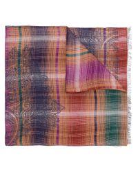 Écharpe à mélange de motifs Etro pour homme en coloris Brown
