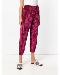 Pleated cropped trousers Forte Forte en coloris Pink