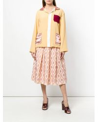 Marni - Orange Peaked Collar Jacket - Lyst