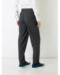 Kolor Gray Front Pleat Tailored Trousers for men