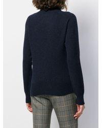 Jersey de punto con cuello vuelto YMC de color Blue