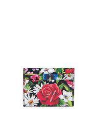 Portafoglio con motivo a fiori di Dolce & Gabbana in Multicolor