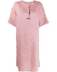 Peserico Pink Kleid mit lockerem Schnitt