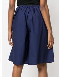 Sofie D'Hoore Blue Parade Poplin Shorts