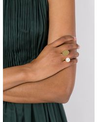 Chloé - Metallic 'darcey' Ring With Pearl - Lyst