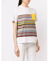 Tory Burch ストライプ Tシャツ Multicolor