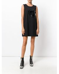 Love Moschino Black Vynil Effect Dress