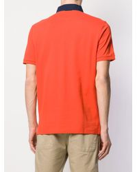 メンズ Hackett コントラストカラー ポロシャツ Orange