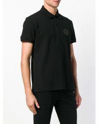 Versace Jeans Black Logo Patch Polo for men