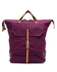 Ally Capellino フロントフラップ バックパック Purple