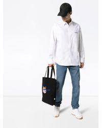 メンズ Maison Kitsuné X Ader Error ロゴ シャツ White