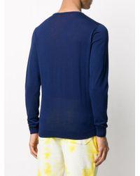 Roberto Collina Blue Lightweight Cotton Sweatshirt for men