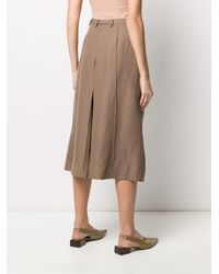 Lemaire Brown Wide-leg Cropped Trousers