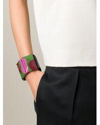 Marni Black Elasticated Detail Cuff