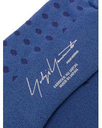 Yohji Yamamoto Blue Polka Dot Socks for men