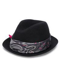 Шляпа С Принтом Пейсли Etro для него, цвет: Black