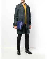 Pochette zippée Intrecciato Bottega Veneta pour homme en coloris Blue