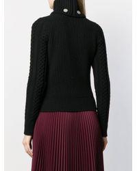 Вязаный Джемпер В Рубчик С Заклепками Alexander McQueen, цвет: Black