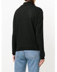 Barena - Black Fine Knit Cardigan - Lyst