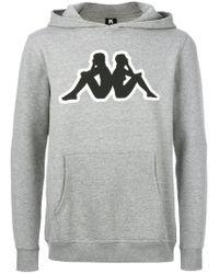 Kappa Gray Branded Hoodie for men